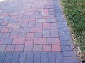 brick pavers in landscape