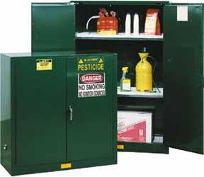 chemical and pesticide storage cabinets