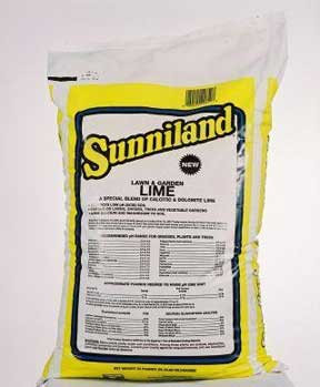 50 lb bag of dolomitic lime from Sunniland