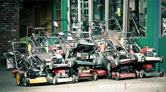 stacked mowers