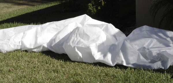 specialty blanket or cover made for frost protection on plants