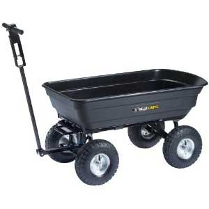 Tricam Gorilla Cart 600-Pounds Capacity Black Dumping Cart