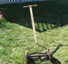 old push type lawn mower
