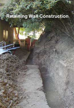 construction for retaining wall