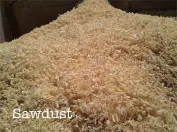 pile of sawdust