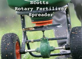 scotts broadcast fertilizer spreader
