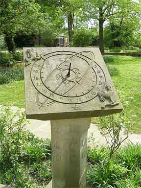 Sundial in the landscape