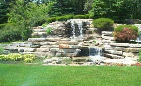 water gardens waterfall