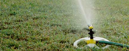 watering lawn efficiently with an irrigation system