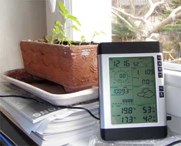 Display of home weather station